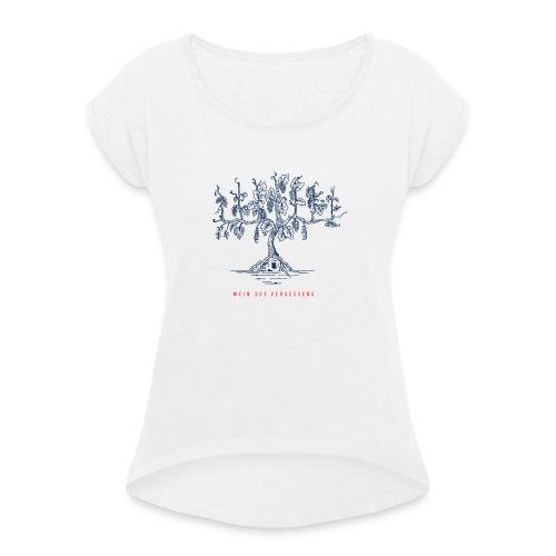 Wein des Vergessens - Frauen T-Shirt mit gerollten Ärmeln