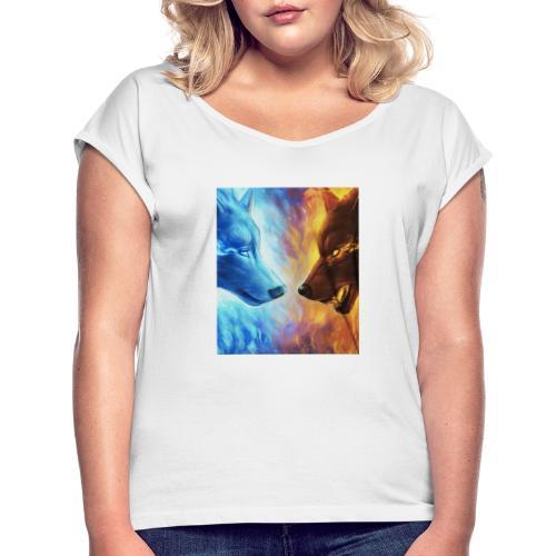 valis005 merch 2020 - T-shirt med upprullade ärmar dam