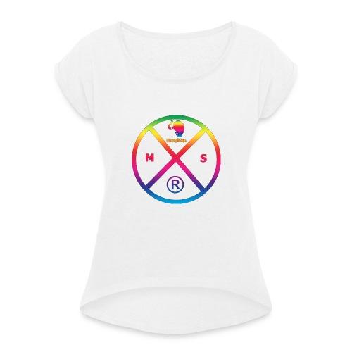 MS logo multicolor - T-shirt à manches retroussées Femme