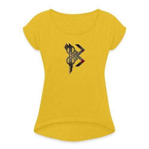viking lettre B - T-shirt à manches retroussées Femme
