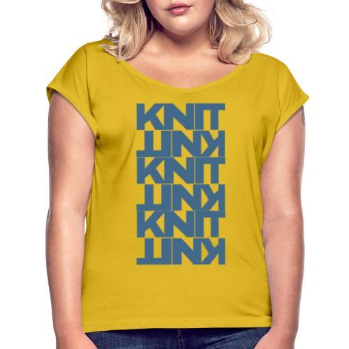 Garter Stitch, dark - Women's T-Shirt with rolled up sleeves