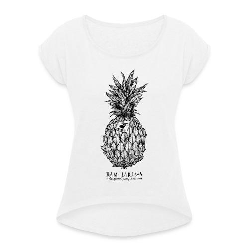 The Pineapple Experiment - Frauen T-Shirt mit gerollten Ärmeln