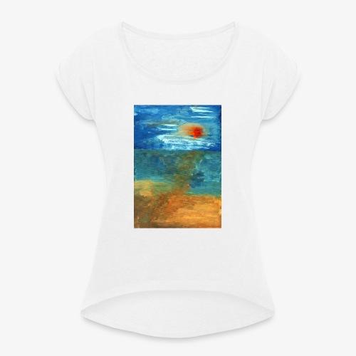 It Was a Sea - Koszulka damska z lekko podwiniętymi rękawami