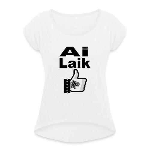 i like - Maglietta da donna con risvolti