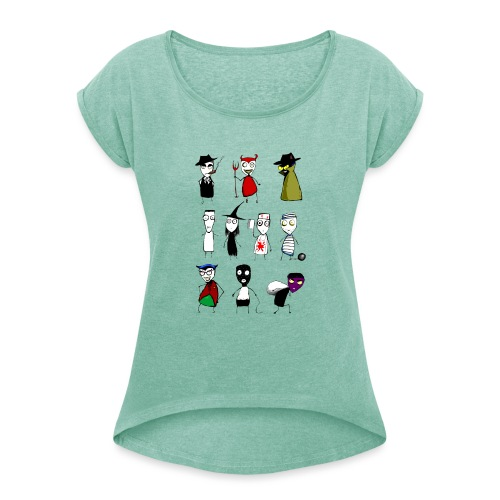Bad to the bone - Women's T-Shirt with rolled up sleeves
