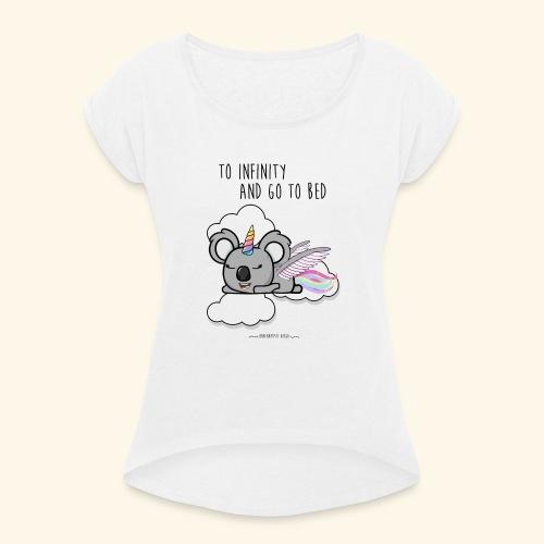 Buzz koala - T-shirt à manches retroussées Femme
