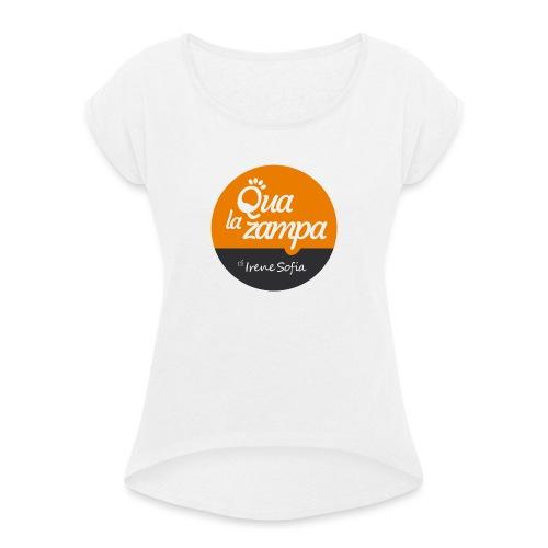Logo Qua la Zampa - Maglietta da donna con risvolti