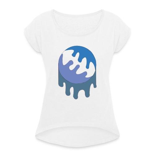Slijmbal - Vrouwen T-shirt met opgerolde mouwen