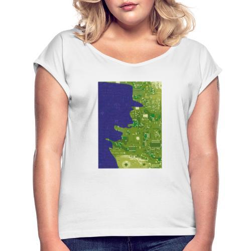 Rinus Van De Melkwegboer - Vrouwen T-shirt met opgerolde mouwen