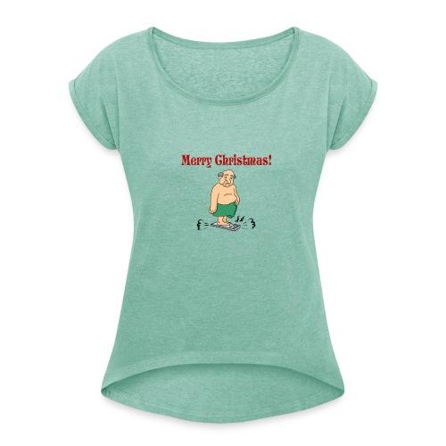 Merry christmas ! - T-shirt à manches retroussées Femme