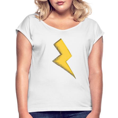 Fulmine - Maglietta da donna con risvolti