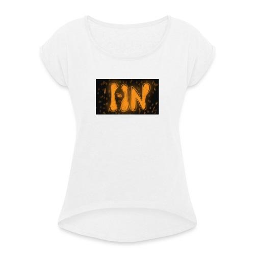 Logró de tienda - Camiseta con manga enrollada mujer