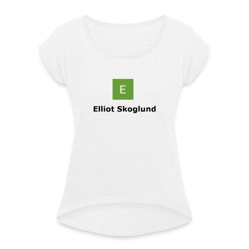 Prenumerera - T-shirt med upprullade ärmar dam