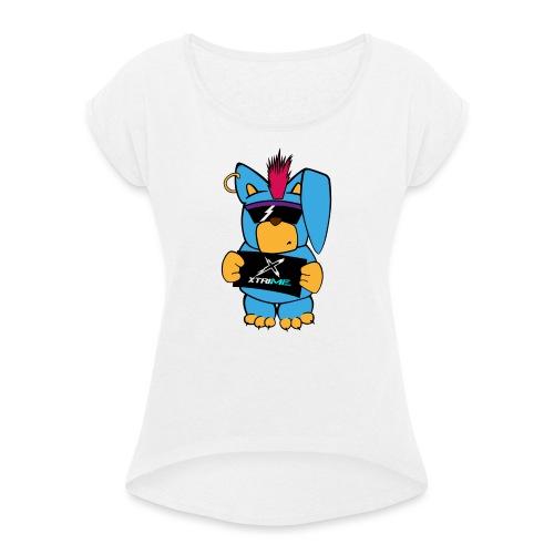 Mister X - Frauen T-Shirt mit gerollten Ärmeln
