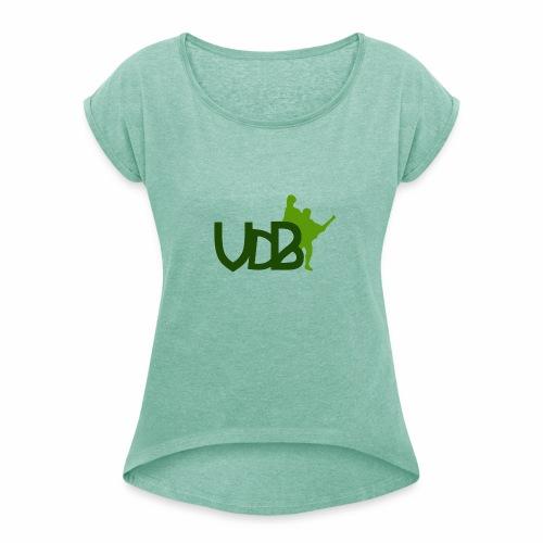 VdB green - Maglietta da donna con risvolti