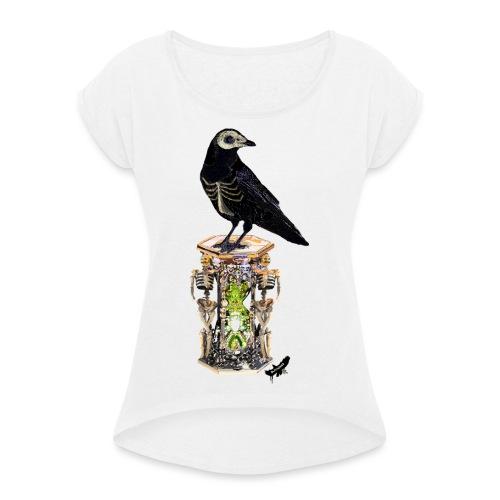 'Memento Mori' by BlackenedMoonArts - Dame T-shirt med rulleærmer