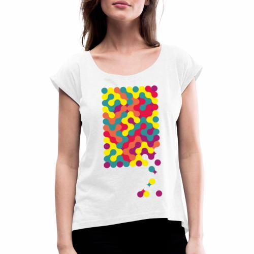 Falling ap-art - Women's T-Shirt with rolled up sleeves