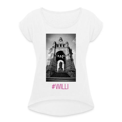 WILLI - Frauen T-Shirt mit gerollten Ärmeln