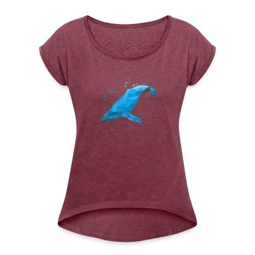 Wal Buckelwal Blauwal Naturschutz - Frauen T-Shirt mit gerollten Ärmeln