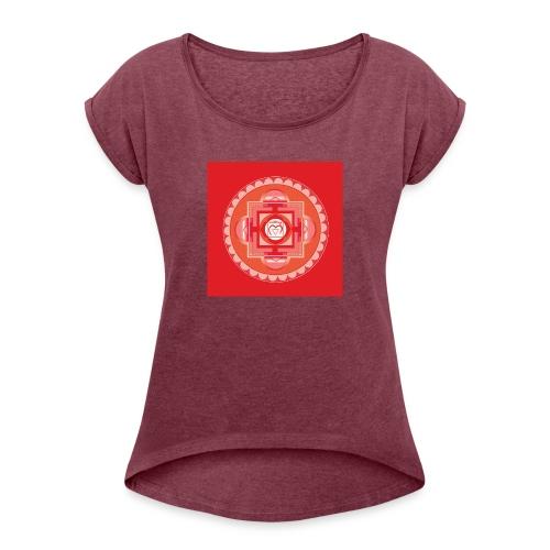 Muladhara - Root Chakra - Naisten T-paita, jossa rullatut hihat