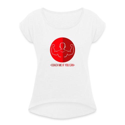 Muscle Rouge - T-shirt à manches retroussées Femme