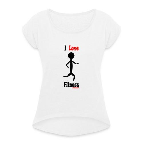 Fitness #FRASIMTIME - Maglietta da donna con risvolti