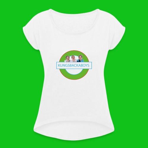 kungsbackaboys_stor-01 - T-shirt med upprullade ärmar dam