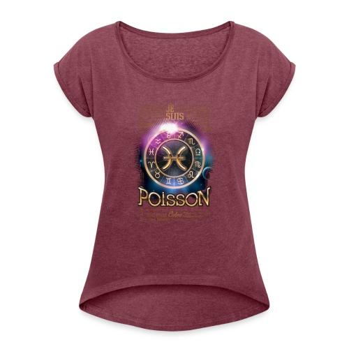 POISSONS - T-shirt à manches retroussées Femme