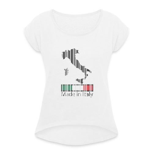 Made in Italy - Maglietta da donna con risvolti