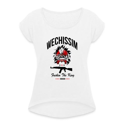 wechissim - T-shirt à manches retroussées Femme