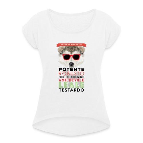 04_ALASKAN_MALAMUTE - Maglietta da donna con risvolti