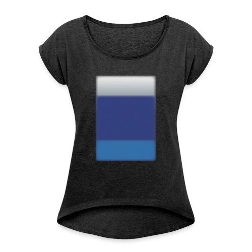 Background @BGgraphic - Dame T-shirt med rulleærmer
