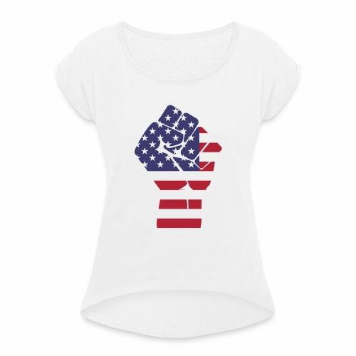 Parzel - Frauen T-Shirt mit gerollten Ärmeln