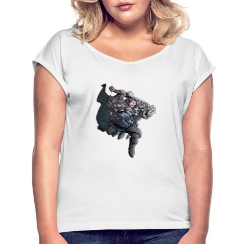 SNOW SNOW - Camiseta con manga enrollada mujer