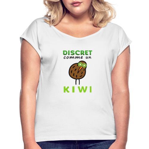 Kiwi - T-shirt à manches retroussées Femme