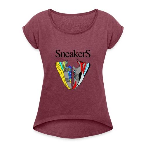 sneakers Love - T-shirt à manches retroussées Femme
