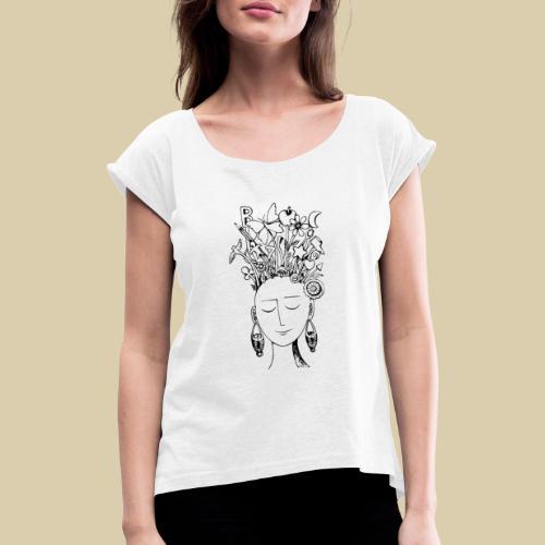 Floideas1 - Camiseta con manga enrollada mujer