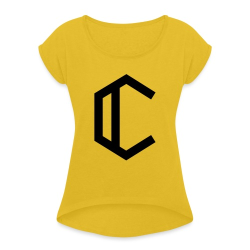 C - Women's T-Shirt with rolled up sleeves