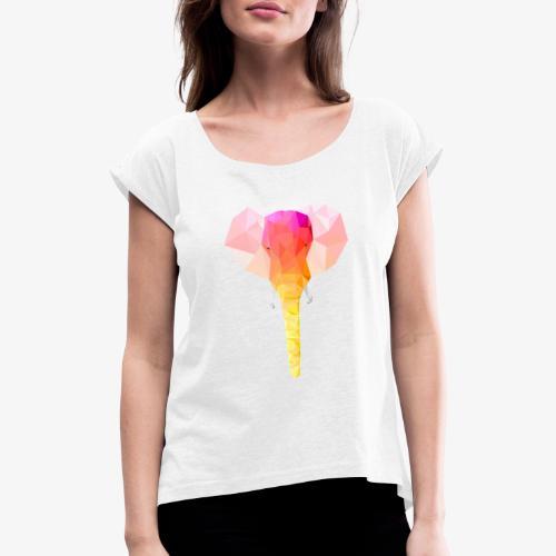 Elephant - T-shirt à manches retroussées Femme