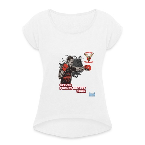 Steve Pocket Rocket Cook - Women's T-Shirt with rolled up sleeves