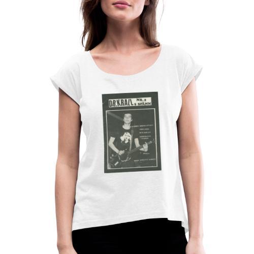 Svart Dr Krall - T-shirt med upprullade ärmar dam