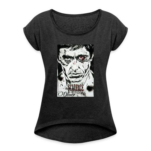 Portrait unique scarface - T-shirt à manches retroussées Femme