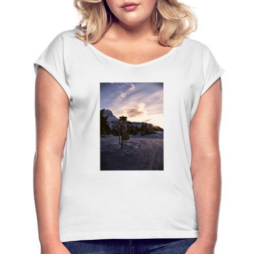 snow2 - Maglietta da donna con risvolti