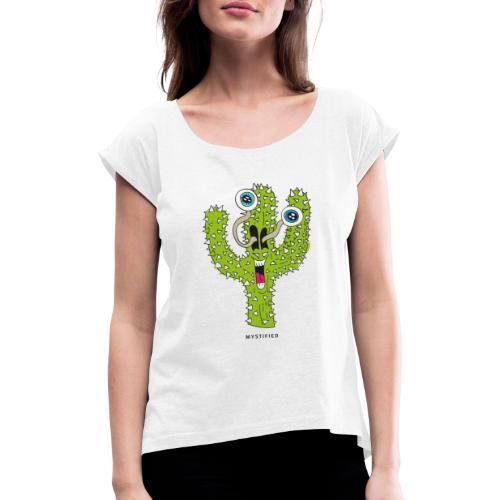 Mystified Cactus - Vrouwen T-shirt met opgerolde mouwen