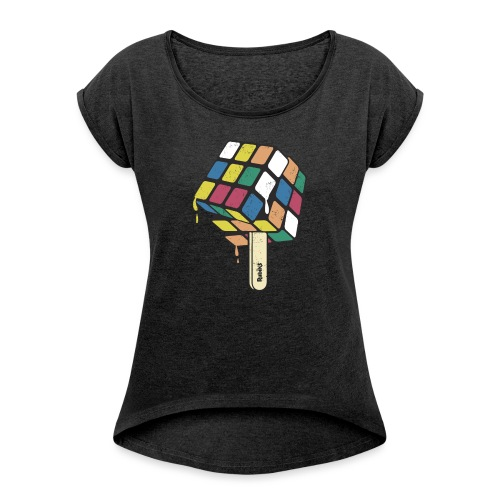 Rubik's Cube Ice Lolly - Women's T-Shirt with rolled up sleeves