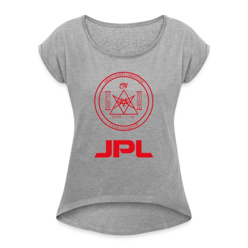 Synical Space - Women's T-Shirt with rolled up sleeves