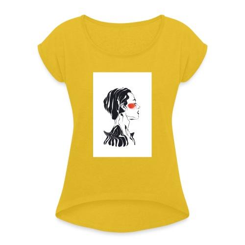 Necked - Vrouwen T-shirt met opgerolde mouwen