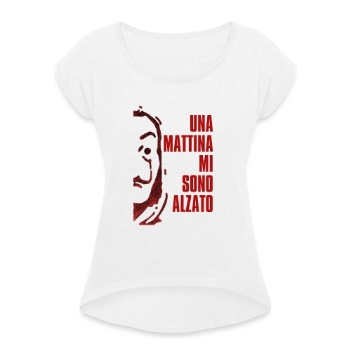 RESISTENCIA RED - T-shirt à manches retroussées Femme