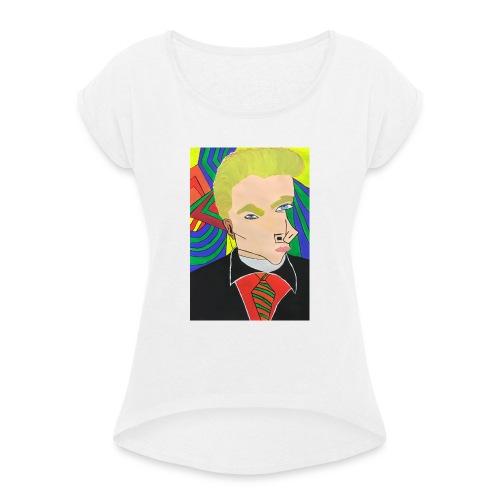 Businessman Leonardo - Frauen T-Shirt mit gerollten Ärmeln
