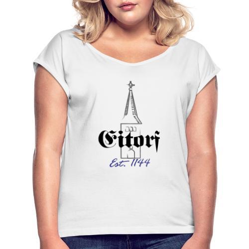 875 Jahre Eitorf Paint Design - Frauen T-Shirt mit gerollten Ärmeln
